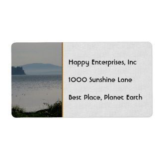 Orcas Island From Birch Bay Label