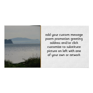 Orcas Island From Birch Bay Photo Greeting Card