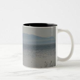 Orcas Island From Birch Bay Two-Tone Coffee Mug