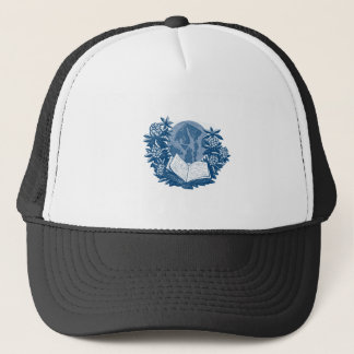 Orcas Island Map Book Rhododendron Drawing Trucker Hat