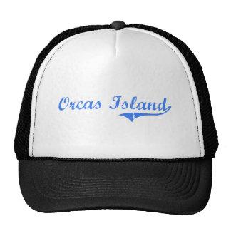 Orcas Island Washington Classic Design Trucker Hats