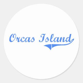 Orcas Island Washington Classic Design Classic Round Sticker