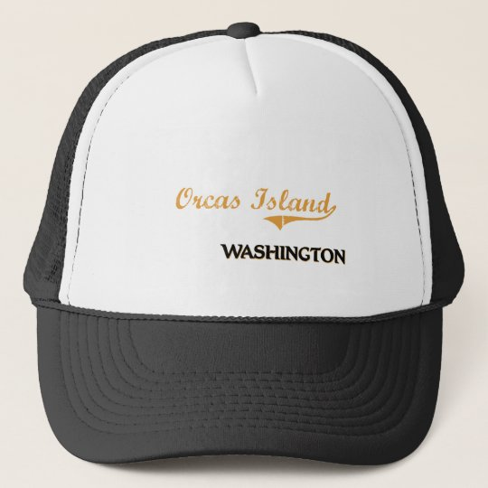 Orcas Island Washington Classic Trucker Hat