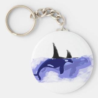 Orcas Killer Whales Key Chain