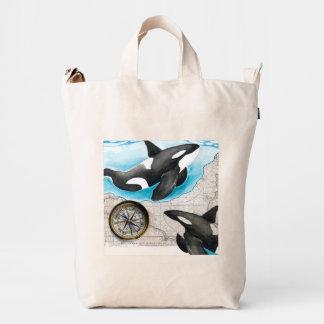 Orcas Map Duck Bag
