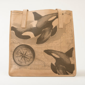 Orcas Map Tote