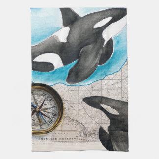 Orcas Map Towel