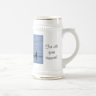 Orcas of the Puget Sound 18 Oz Beer Stein