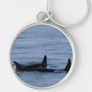 Orcas of the Puget Sound Keychain