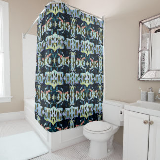 Orcas Pattern Shower Curtain