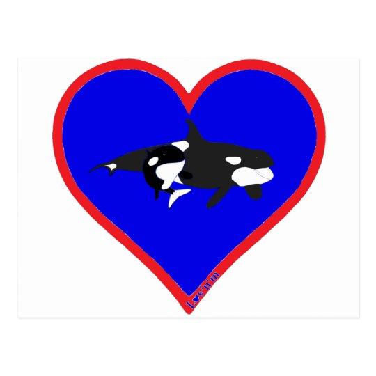 orcas postcard