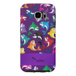 Orcas púrpuras conocidas personalizadas del arco fundas samsung galaxy s6