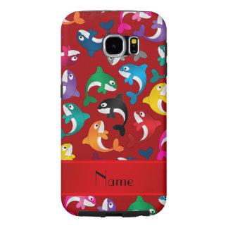 Orcas rojas conocidas personalizadas del arco iris fundas samsung galaxy s6