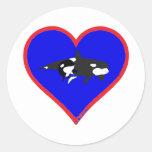 orcas round sticker