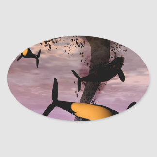 Orcas Oval Sticker