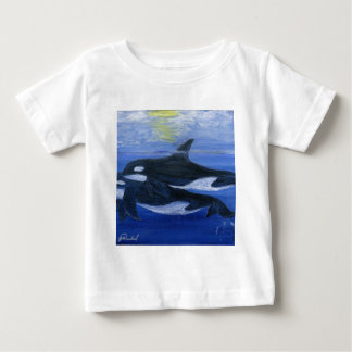 Orcas swimming baby T-Shirt