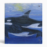 Orcas swimming binder