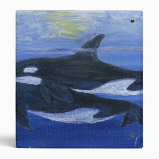 Orcas swimming binder