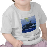 Orcas swimming t shirt