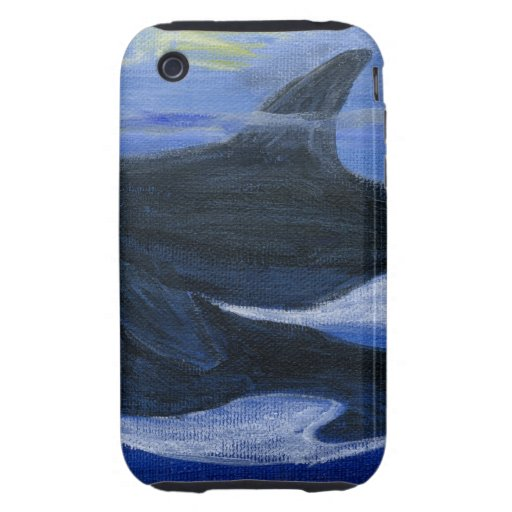Orcas swimming tough iPhone 3 cases