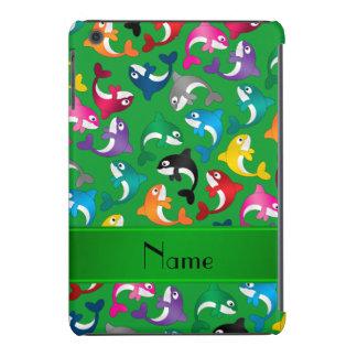 Orcas verdes conocidas personalizadas del arco carcasa para iPad mini retina