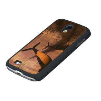 Orcas Carved® Cherry Galaxy S4 Slim Case