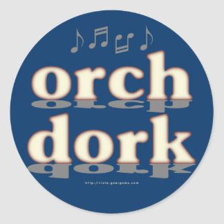 Orch Dork Classic Round Sticker