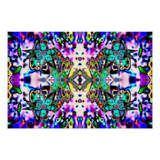 """""""Orchadia 1"""" poster psicodélico vibrante del arte"""