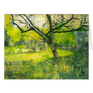 Orchard 1888 large greeting card