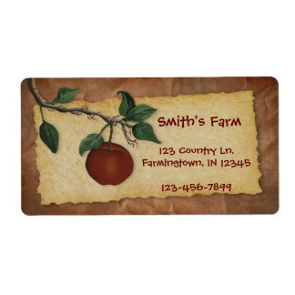 Orchard Apple Label Shipping Label