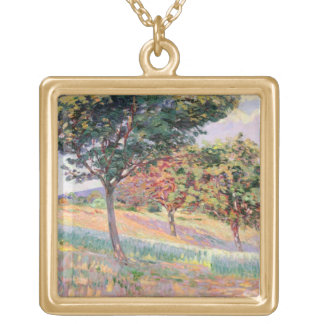 Orchard at St. Cheron, 1893 (oil on canvas) Necklace
