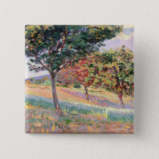 Orchard at St. Cheron, 1893 (oil on canvas) Pinback Button