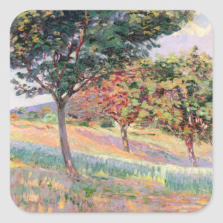 Orchard at St. Cheron, 1893 (oil on canvas) Square Sticker