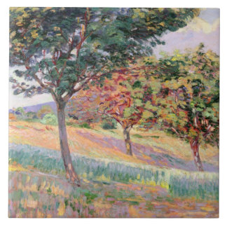 Orchard at St. Cheron, 1893 (oil on canvas) Tile