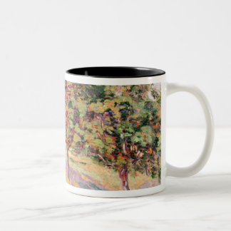 Orchard at St. Cheron, 1893 (oil on canvas) Two-Tone Coffee Mug
