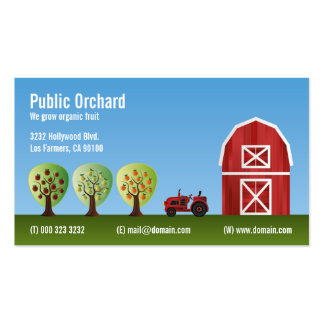 Orchard Fruit Growers Double-Sided Standard Business Cards (Pack Of 100)