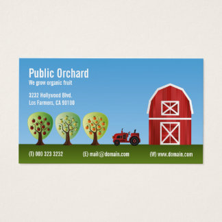 Orchard Fruit Produce Growers Business Card