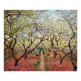 Orchard in Bloom Poster Print
