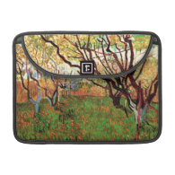 Orchard in Blossom by Vincent van Gogh. Sleeve For MacBooks