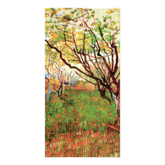 Orchard in Blossom by Vincent van Gogh Picture Card