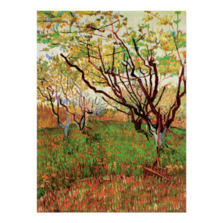 Orchard in Blossom by Vincent van Gogh Print