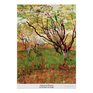 Orchard in Blossom by Vincent van Gogh Posters