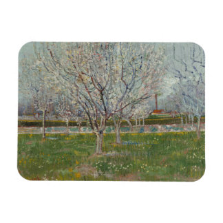 Orchard in Blossom Plum Trees by Vincent Van Gogh Magnet