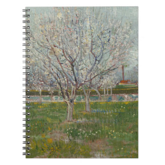 Orchard in Blossom Plum Trees by Vincent Van Gogh Spiral Notebooks