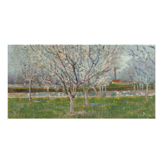 Orchard in Blossom Plum Trees by Vincent Van Gogh Customized Photo Card