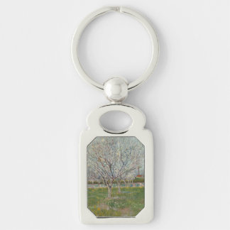 Orchard in Blossom Plum Trees by Vincent Van Gogh Keychains