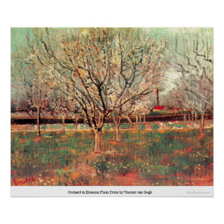 Orchard in Blossom Plum Trees by Vincent van Gogh Posters