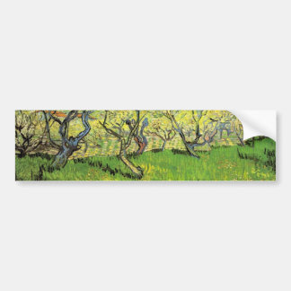 Orchard in Blossom, Vincent van Gogh Bumper Stickers