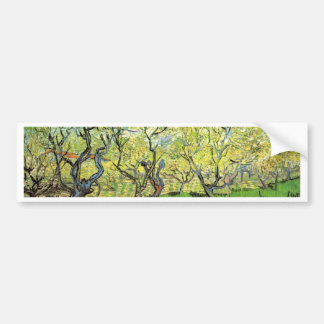 Orchard in Blossom Vincent van Gogh Bumper Stickers