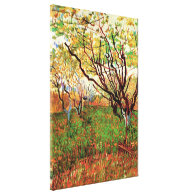 Orchard in Blossom, Vincent van Gogh Stretched Canvas Prints